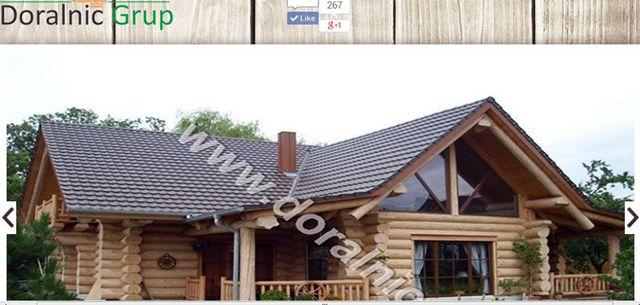 case din lemn rotund