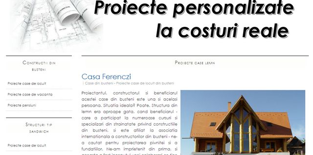 proiecte constructii din lemn