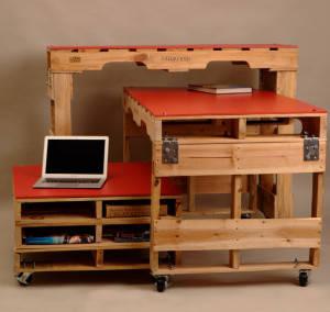 mobilier din europaleti pentru birou